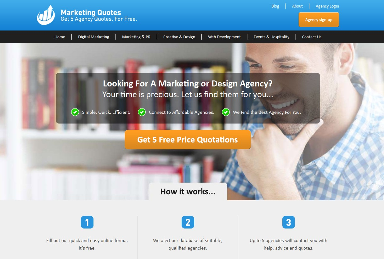 an image of the new marketing quotes steps on site